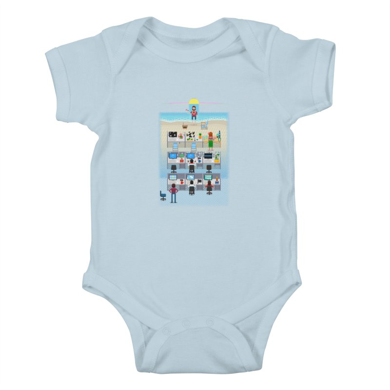 Office Daydream Kids Baby Bodysuit by Made With Awesome