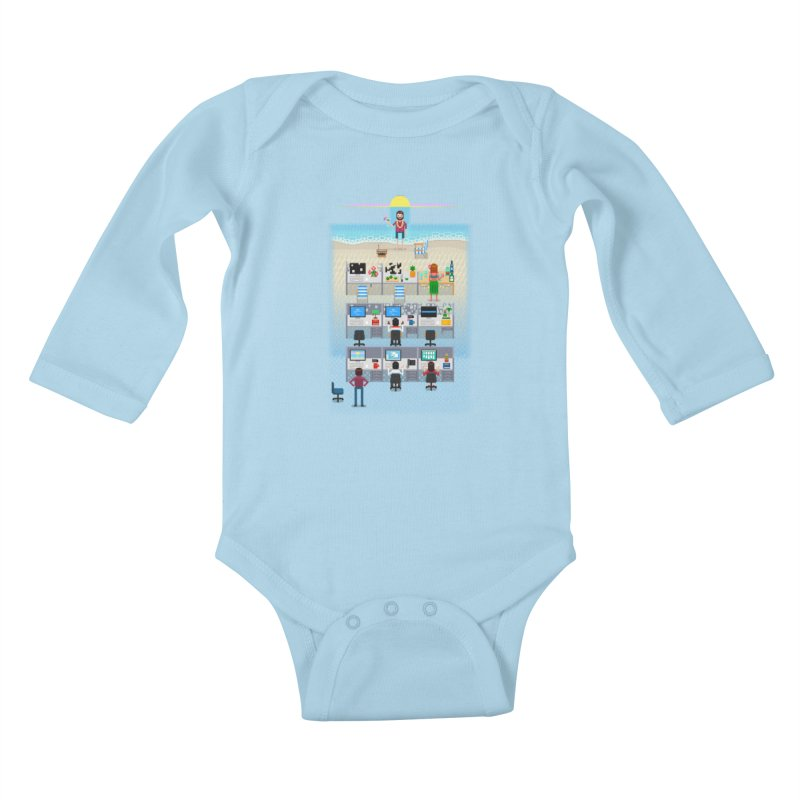 Office Daydream Kids Baby Longsleeve Bodysuit by Made With Awesome