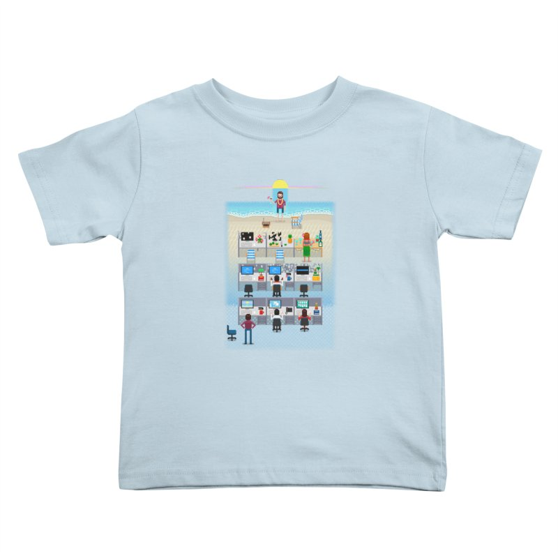 Office Daydream Kids Toddler T-Shirt by Made With Awesome