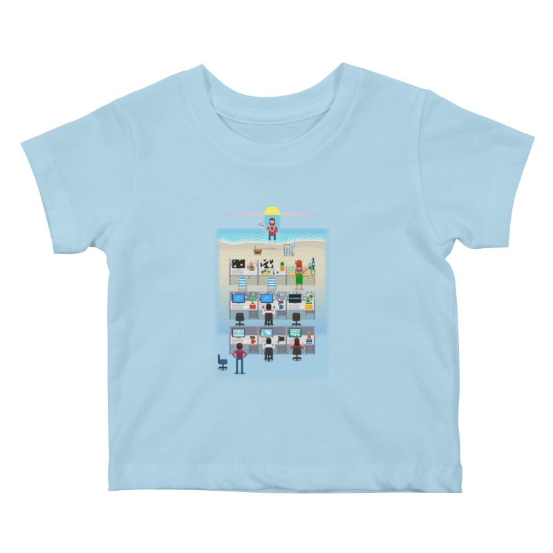 Office Daydream Kids Baby T-Shirt by Made With Awesome