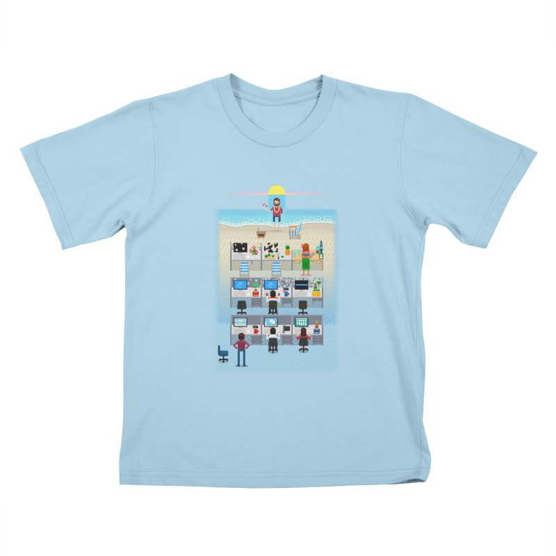 Office Daydream Kids T-Shirt by Made With Awesome