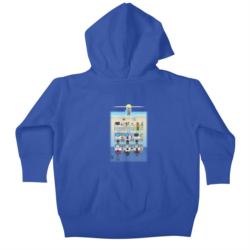 Office Daydream Kids Baby Zip-Up Hoody by Made With Awesome