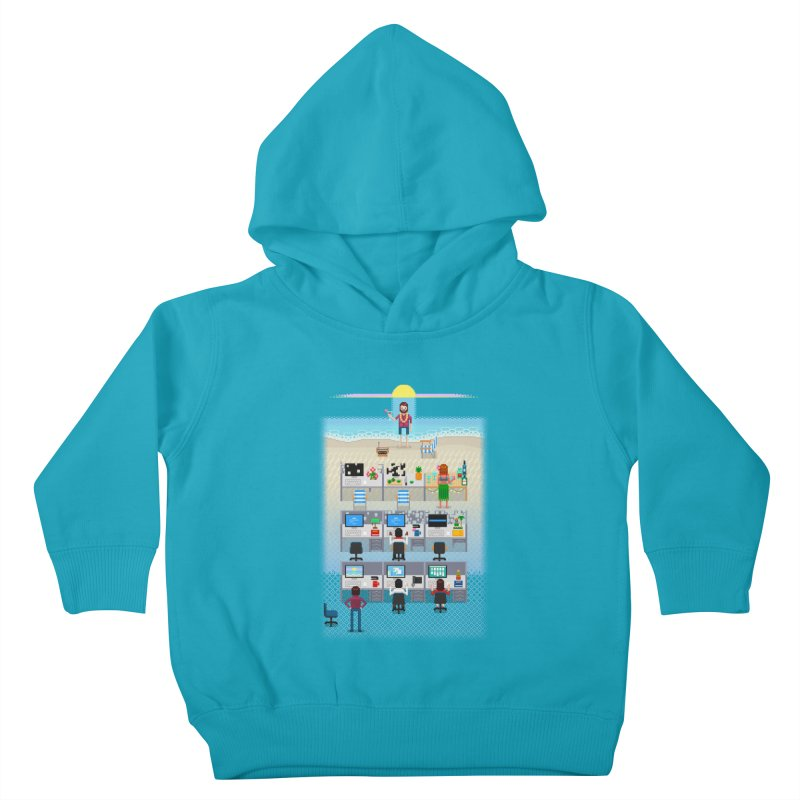 Office Daydream Kids Toddler Pullover Hoody by Made With Awesome