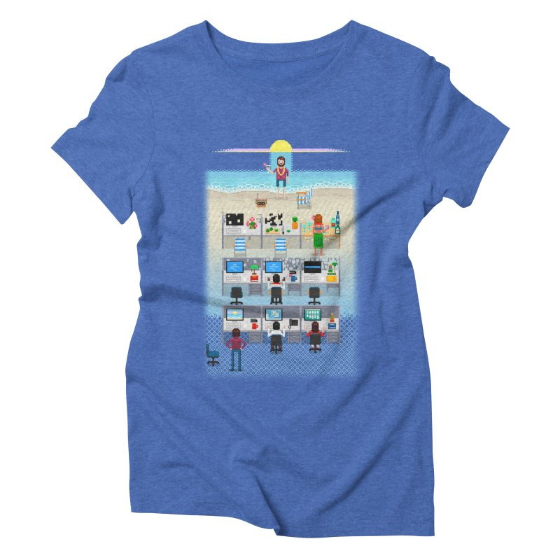 Office Daydream Women's Triblend T-Shirt by Made With Awesome