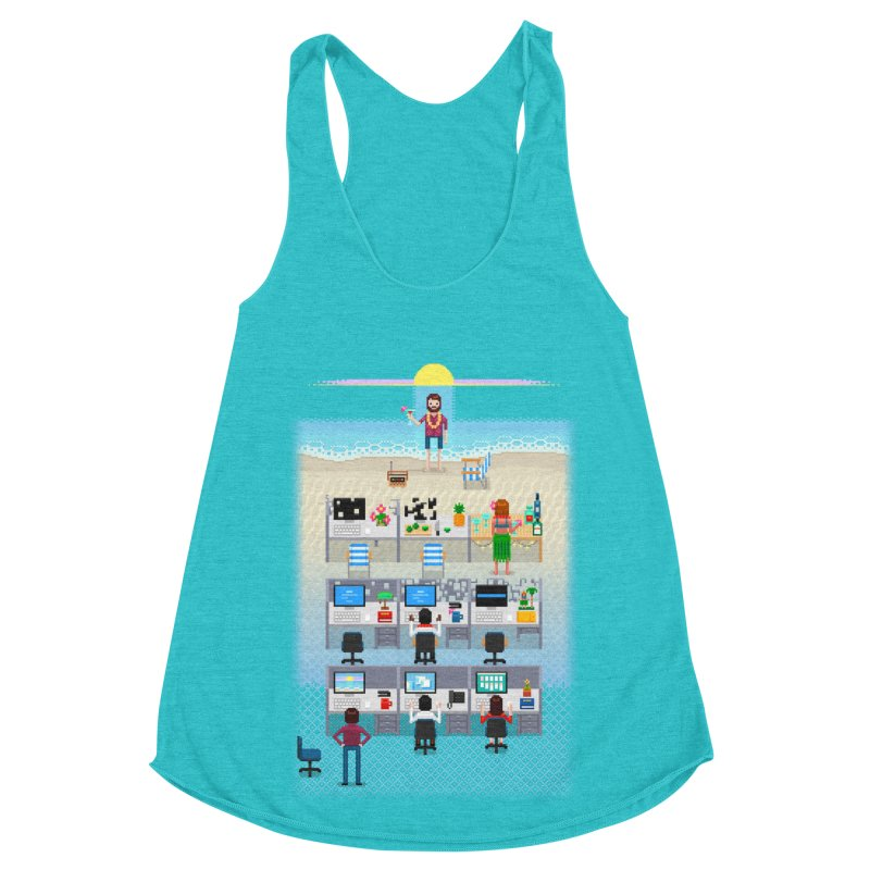 Office Daydream Women's Racerback Triblend Tank by Made With Awesome