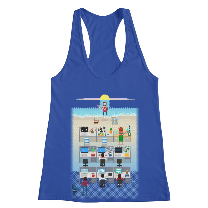 Office Daydream Women's Racerback Tank by Made With Awesome