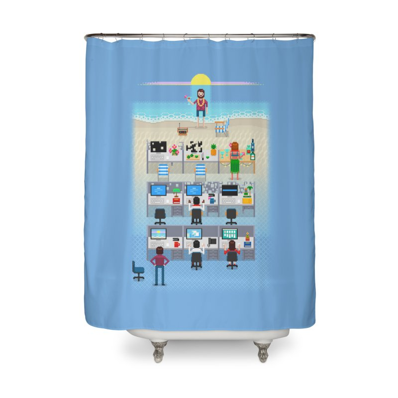 Office Daydream Home Shower Curtain by Made With Awesome