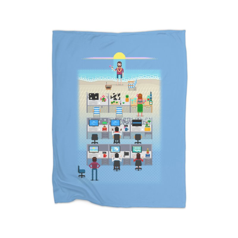 Office Daydream Home Fleece Blanket Blanket by Made With Awesome
