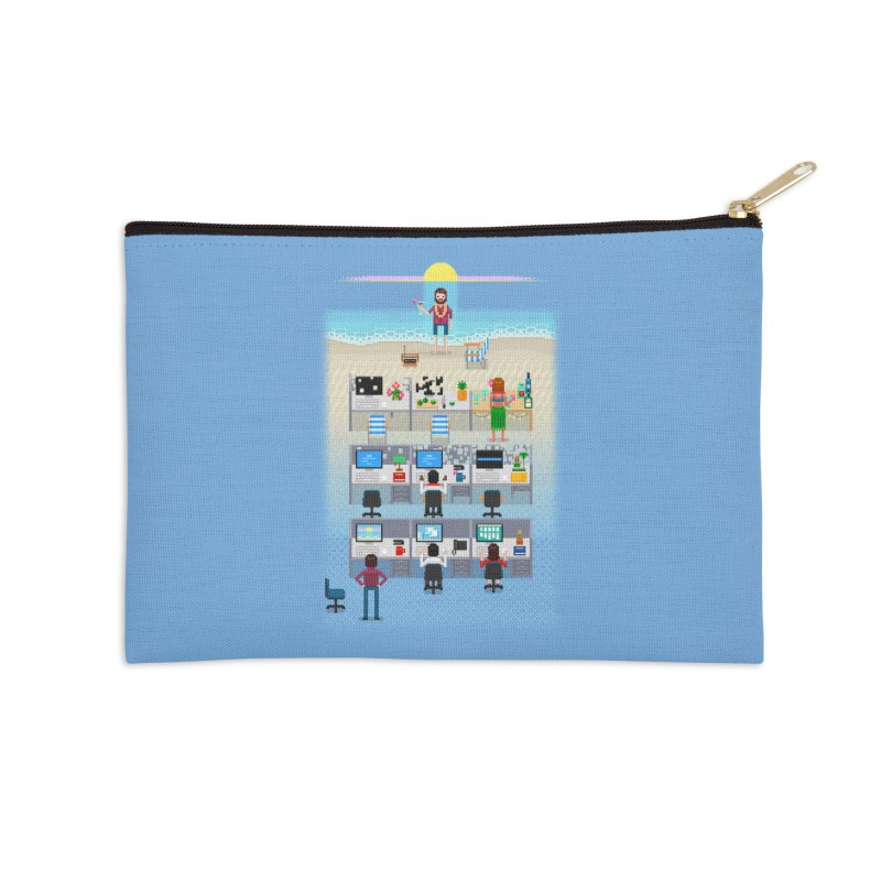 Office Daydream Accessories Zip Pouch by Made With Awesome