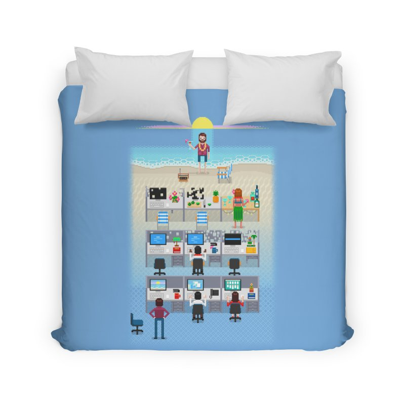 Office Daydream Home Duvet by Made With Awesome