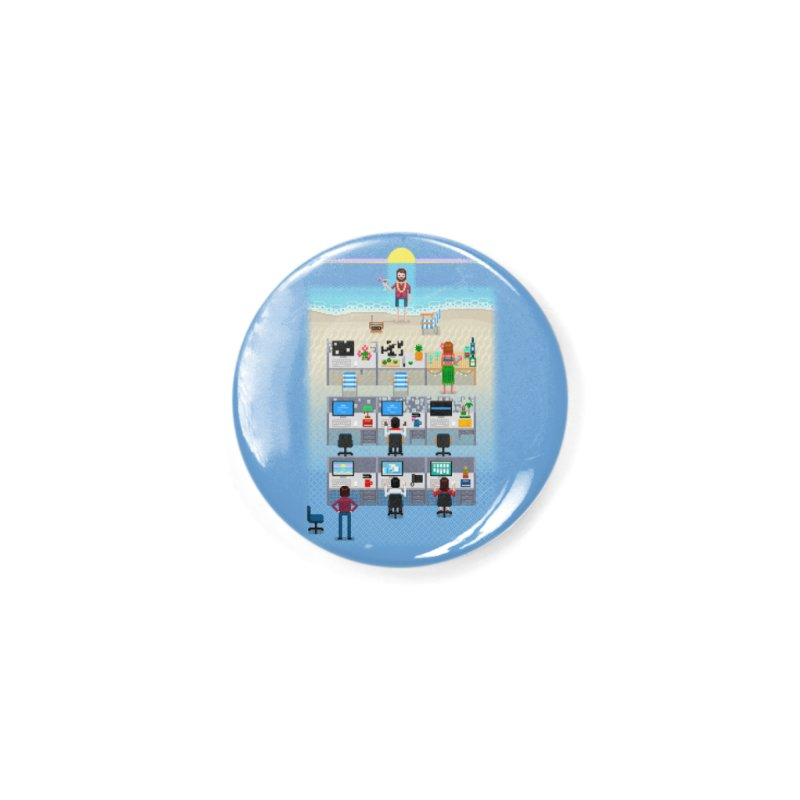 Office Daydream Accessories Button by Made With Awesome