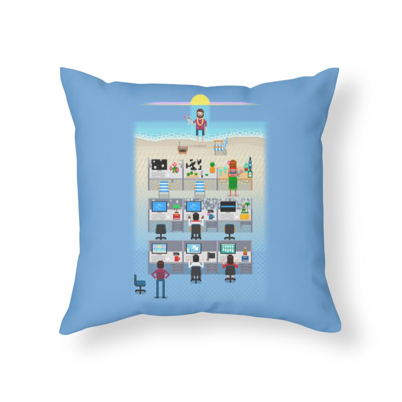 Office Daydream Home Throw Pillow by Made With Awesome
