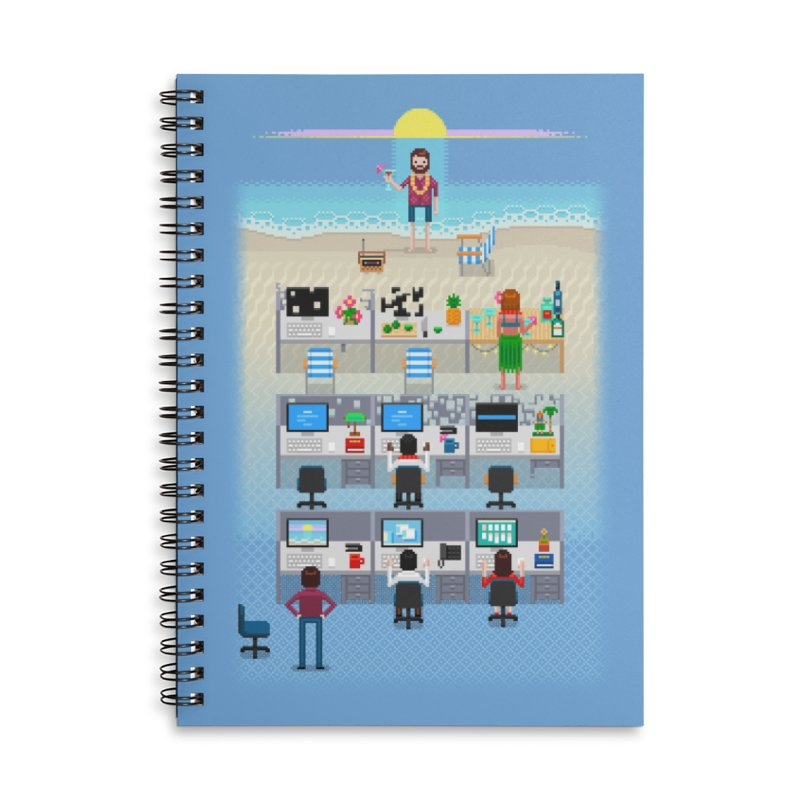 Office Daydream Accessories Lined Spiral Notebook by Made With Awesome