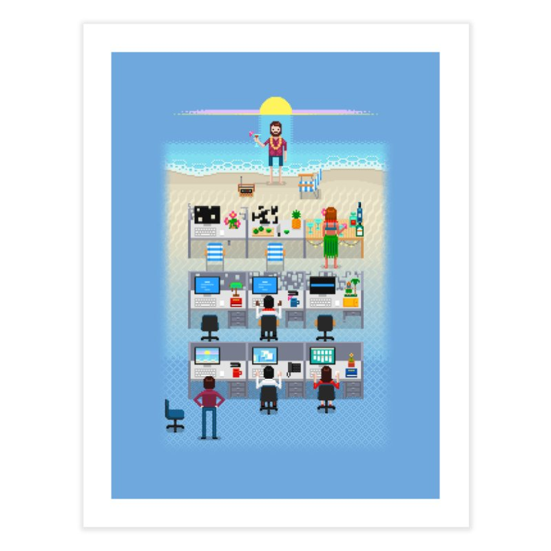 Office Daydream Home Fine Art Print by Made With Awesome