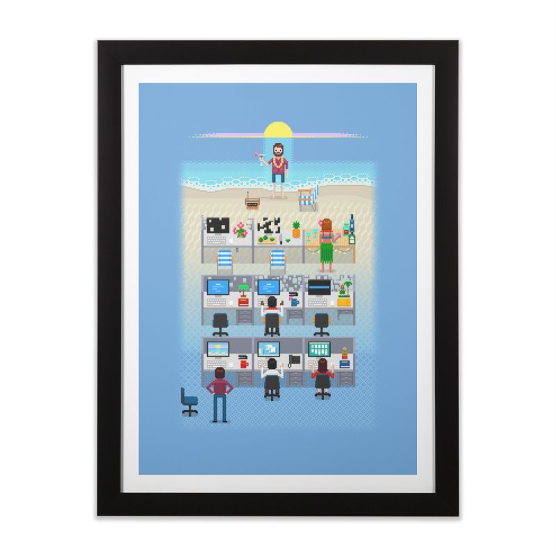 Office Daydream Home Framed Fine Art Print by Made With Awesome