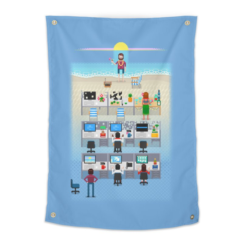 Office Daydream Home Tapestry by Made With Awesome