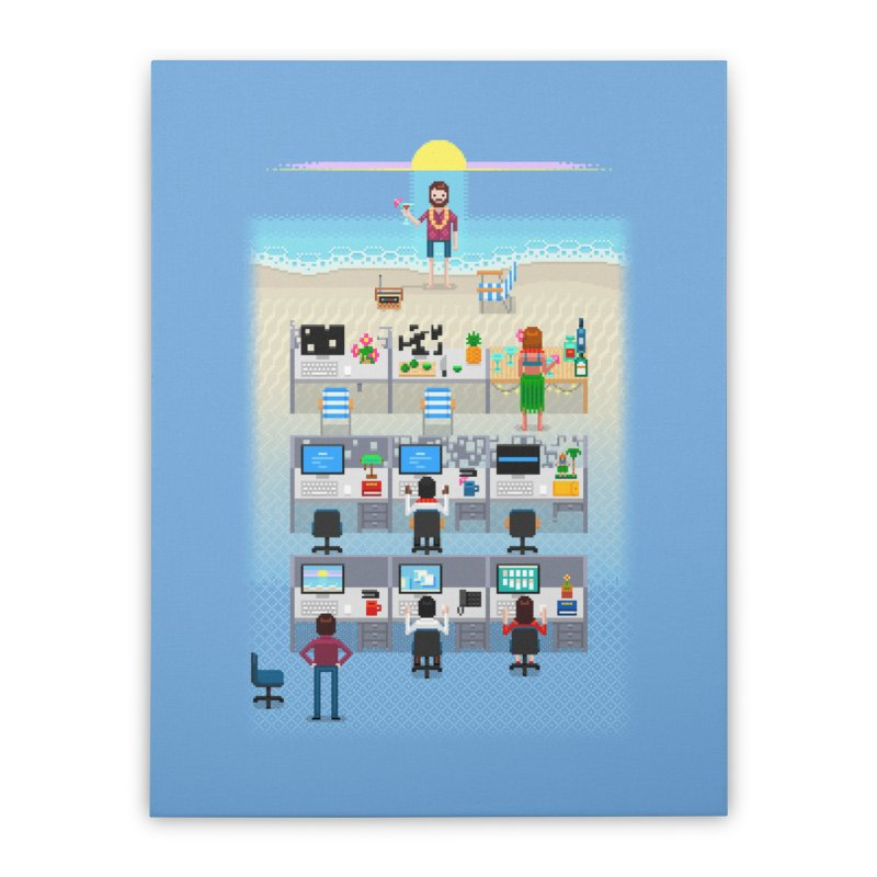 Office Daydream Home Stretched Canvas by Made With Awesome