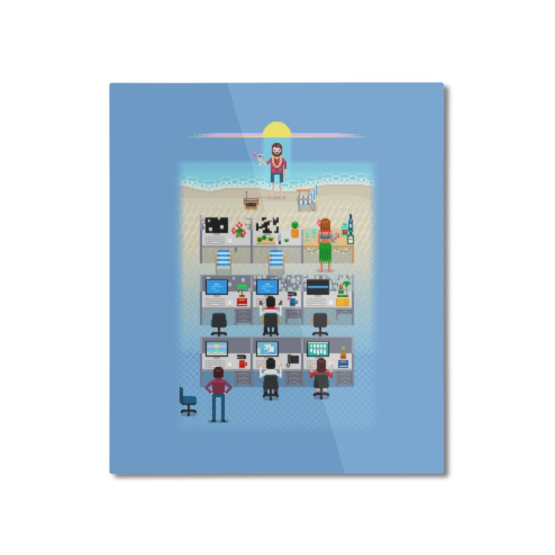 Office Daydream Home Mounted Aluminum Print by Made With Awesome