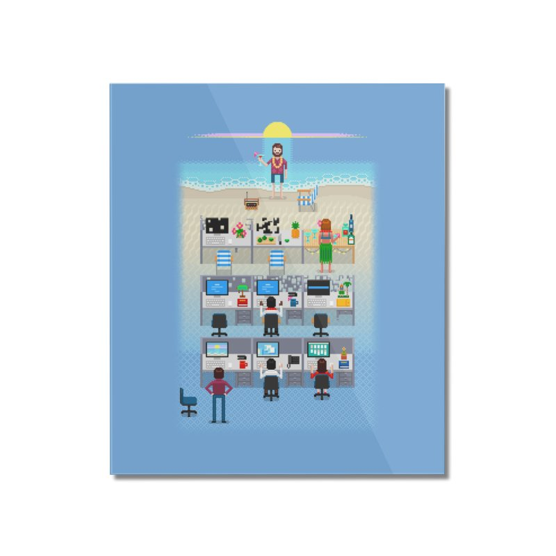 Office Daydream Home Mounted Acrylic Print by Made With Awesome