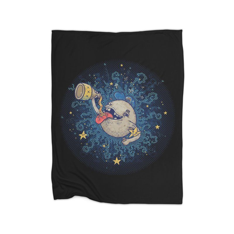 Moonshine Home Fleece Blanket Blanket by Made With Awesome