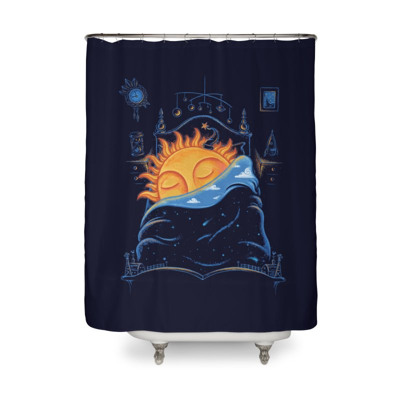 Goodnight Sun Home Shower Curtain by Made With Awesome