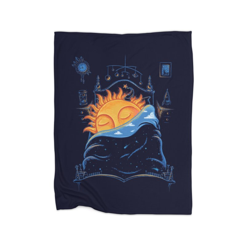 Goodnight Sun Home Fleece Blanket Blanket by Made With Awesome