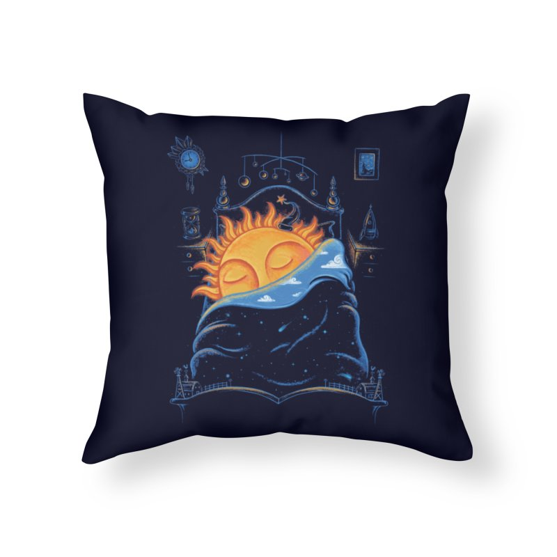 Goodnight Sun Home Throw Pillow by Made With Awesome