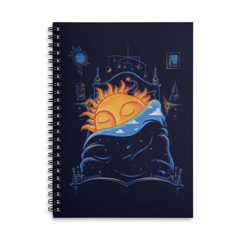 Goodnight Sun Accessories Lined Spiral Notebook by Made With Awesome