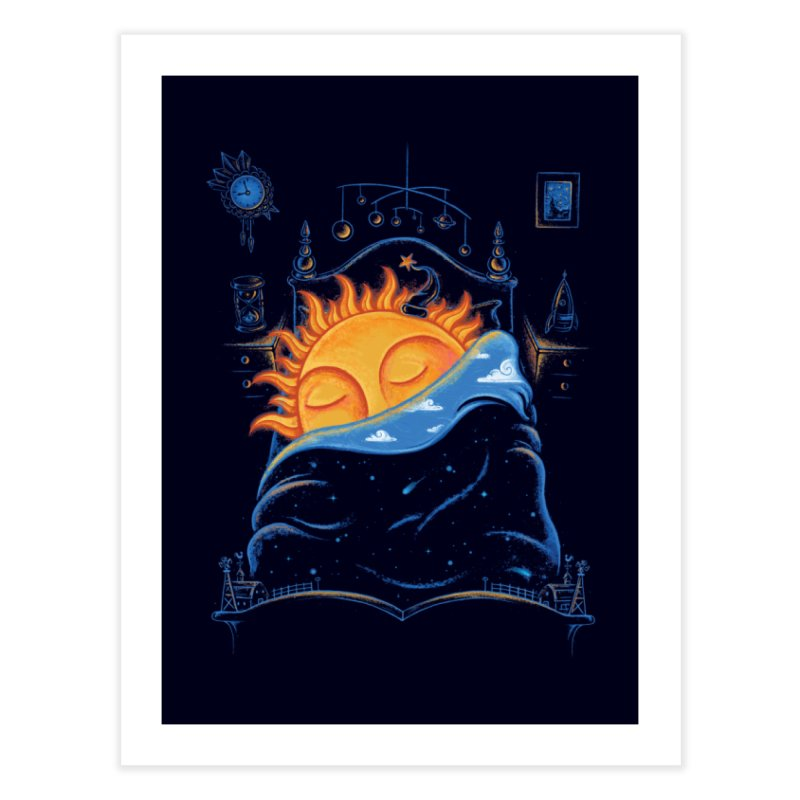 Goodnight Sun Home Fine Art Print by Made With Awesome