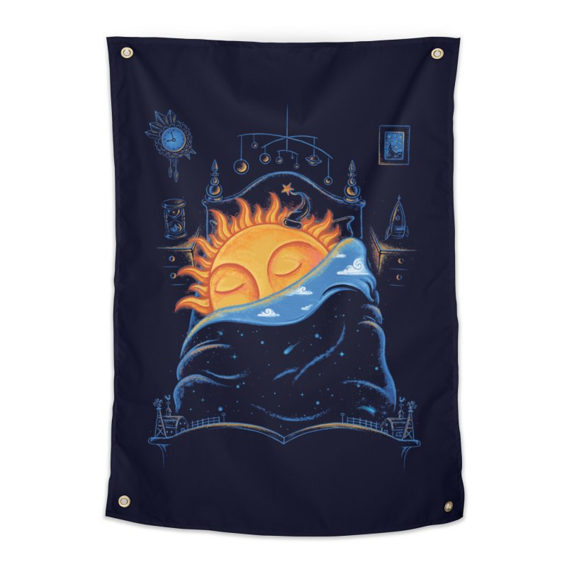 Goodnight Sun Home Tapestry by Made With Awesome