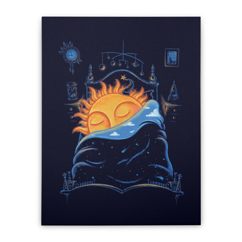 Goodnight Sun Home Stretched Canvas by Made With Awesome