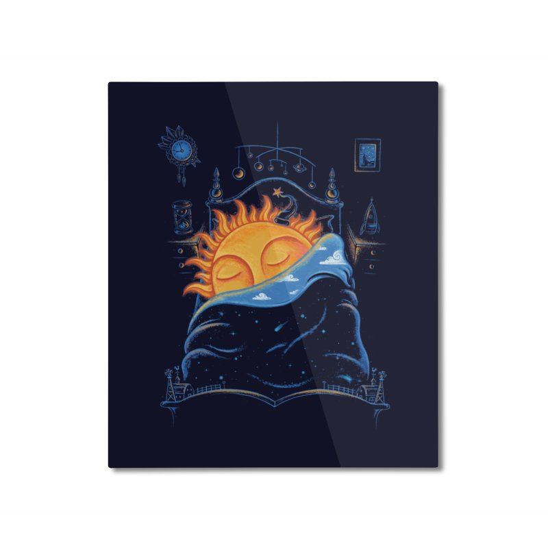 Goodnight Sun Home Mounted Aluminum Print by Made With Awesome
