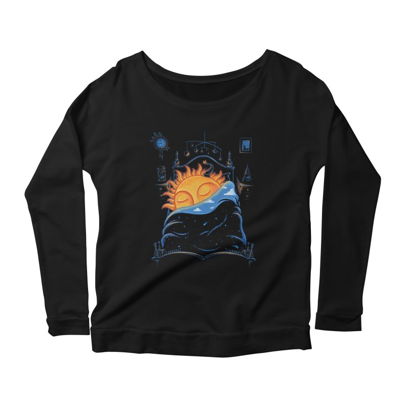 Goodnight Sun Women's Scoop Neck Longsleeve T-Shirt by Made With Awesome