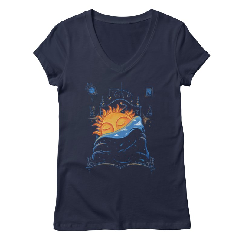 Goodnight Sun Women's Regular V-Neck by Made With Awesome