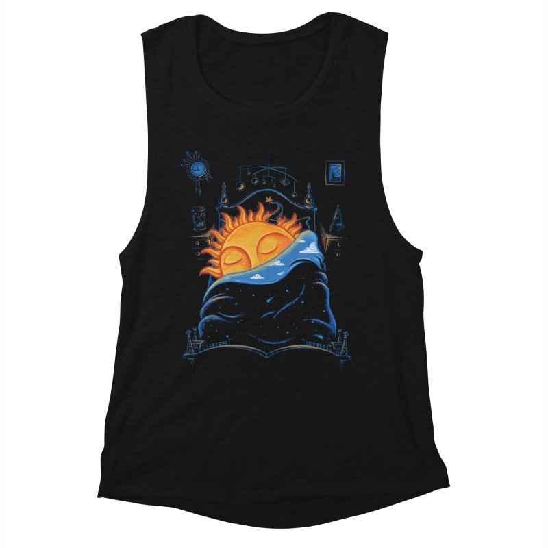 Goodnight Sun Women's Muscle Tank by Made With Awesome