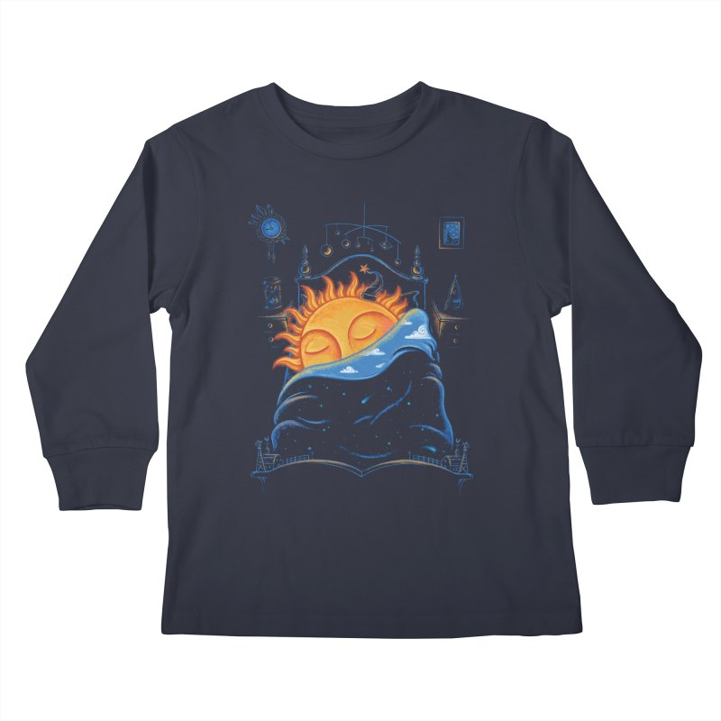 Goodnight Sun Kids Longsleeve T-Shirt by Made With Awesome