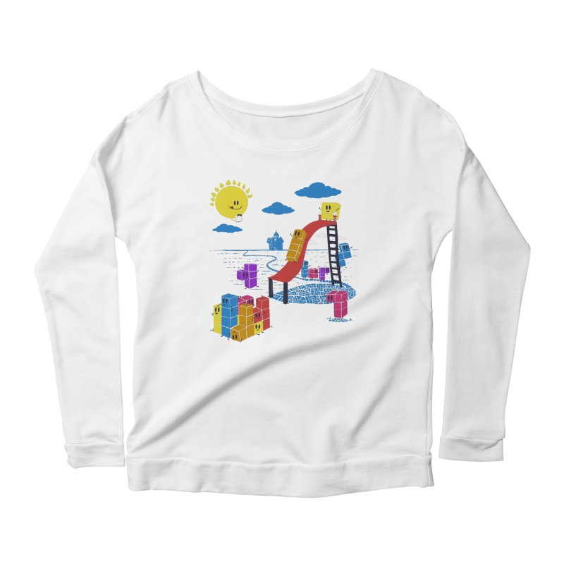 Playtime Women's Scoop Neck Longsleeve T-Shirt by Made With Awesome
