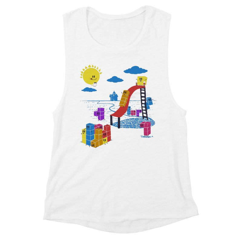 Playtime Women's Muscle Tank by Made With Awesome
