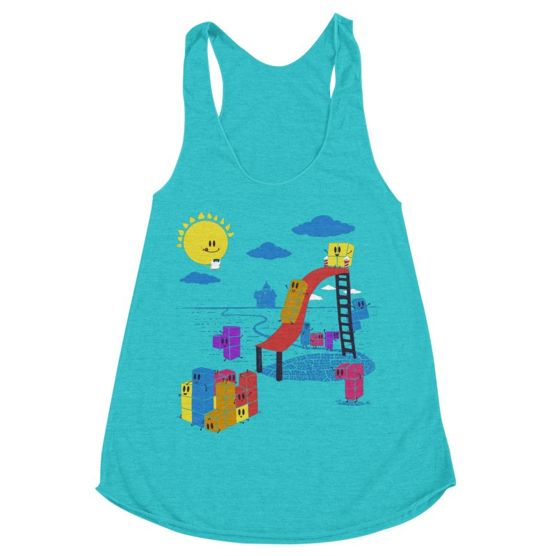 Playtime Women's Racerback Triblend Tank by Made With Awesome