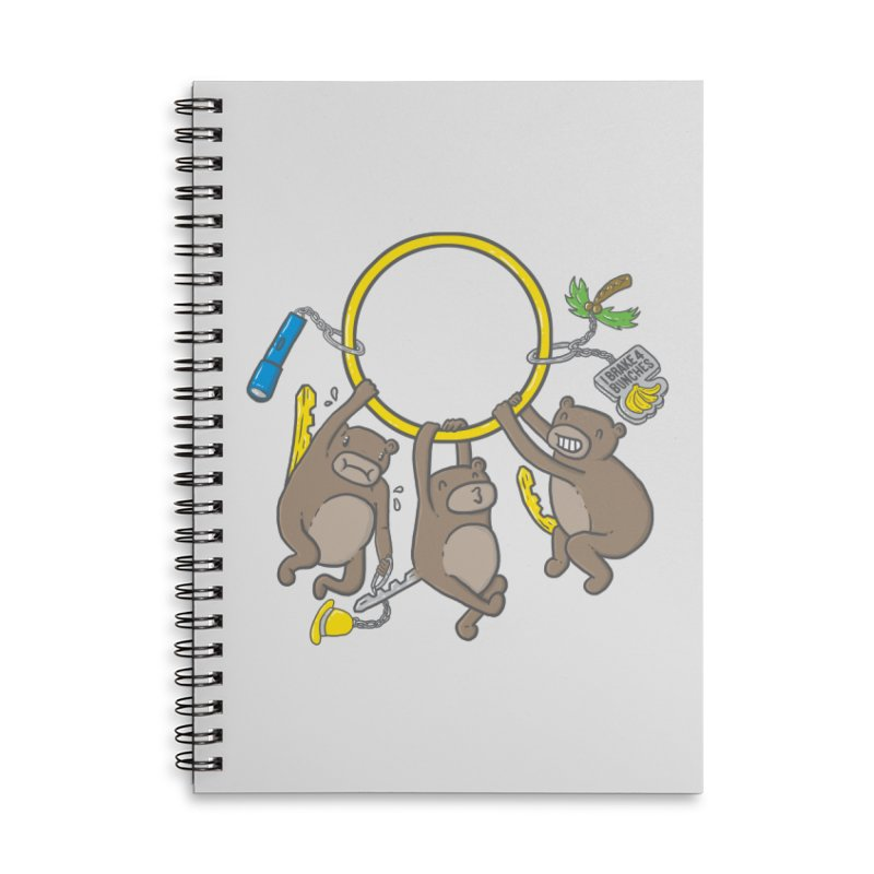 MonKEYS Accessories Lined Spiral Notebook by Made With Awesome