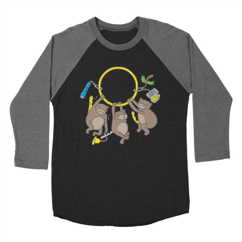 MonKEYS Women's Baseball Triblend Longsleeve T-Shirt by Made With Awesome