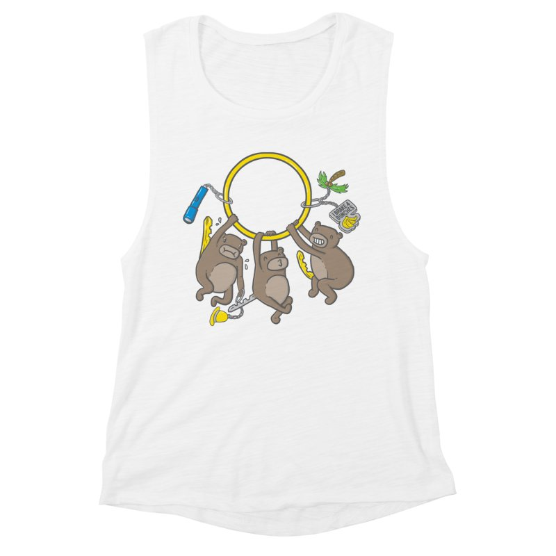 MonKEYS Women's Muscle Tank by Made With Awesome