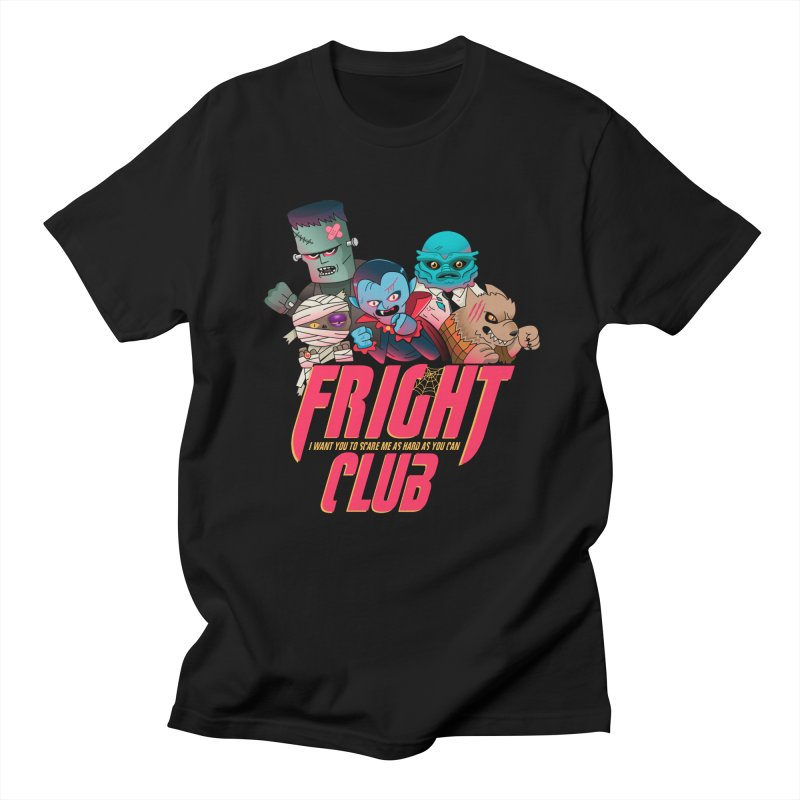 Fright Club in Men's Regular T-Shirt Black by Made With Awesome