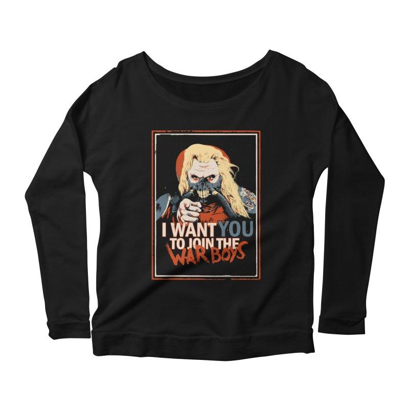 Yo Joe! Women's Scoop Neck Longsleeve T-Shirt by Made With Awesome