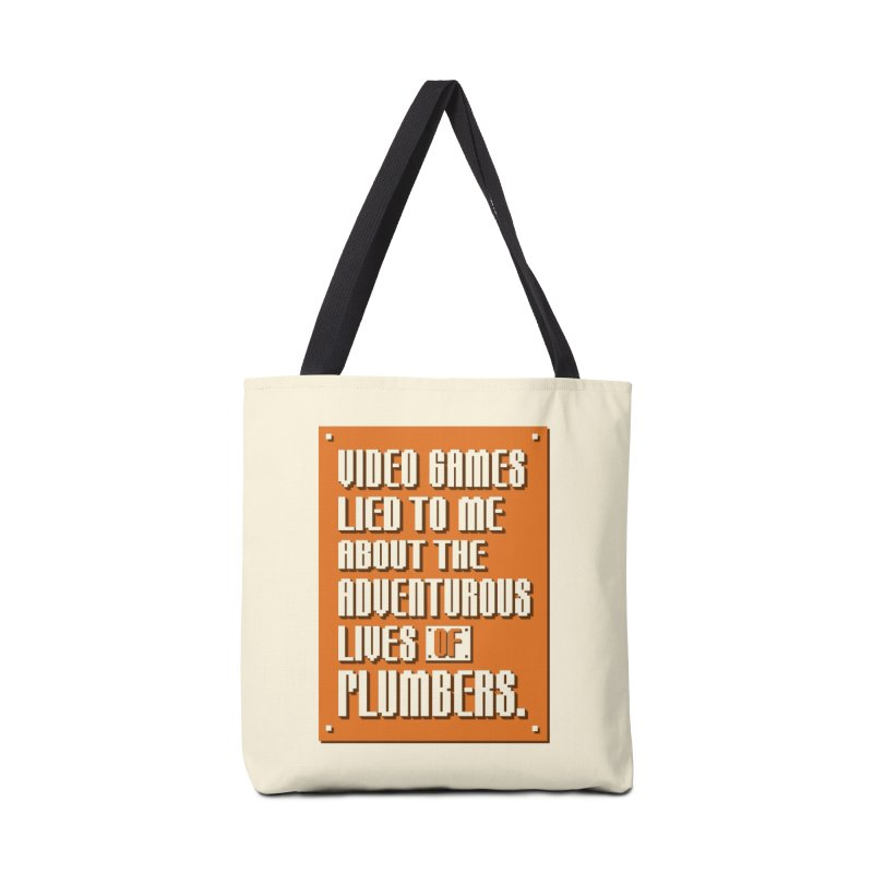 Video Games Lied To Me Accessories Tote Bag Bag by Made With Awesome