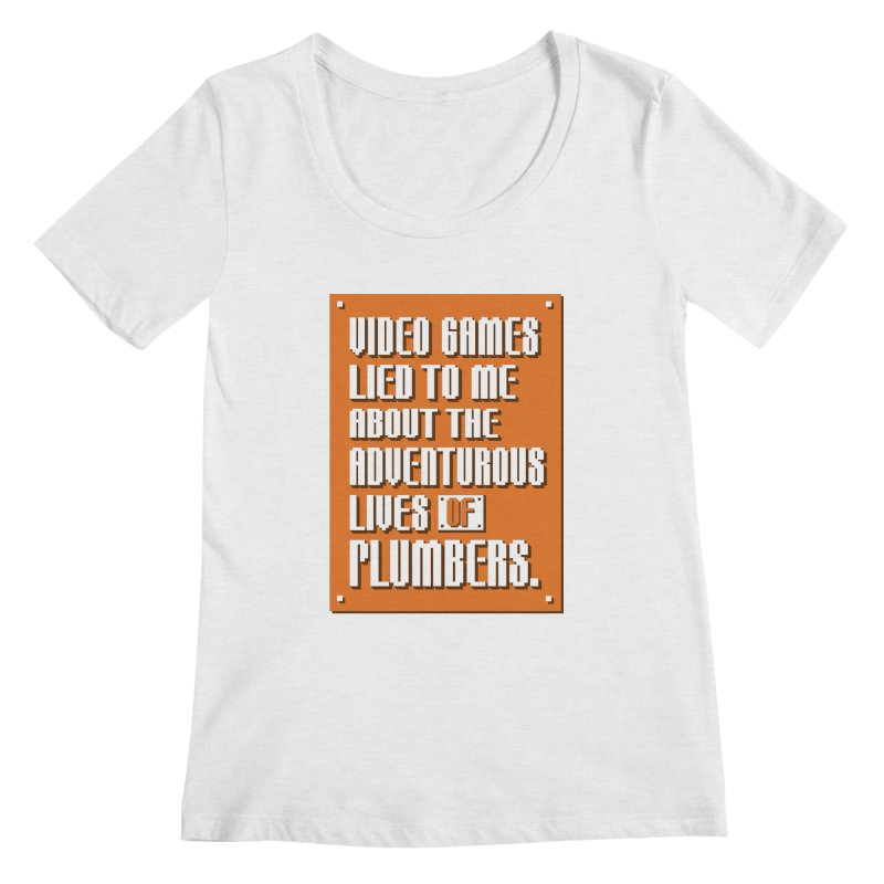 Video Games Lied To Me Women's Regular Scoop Neck by Made With Awesome