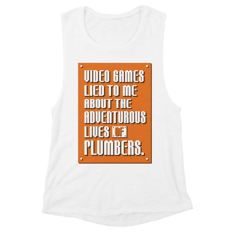 Video Games Lied To Me Women's Muscle Tank by Made With Awesome