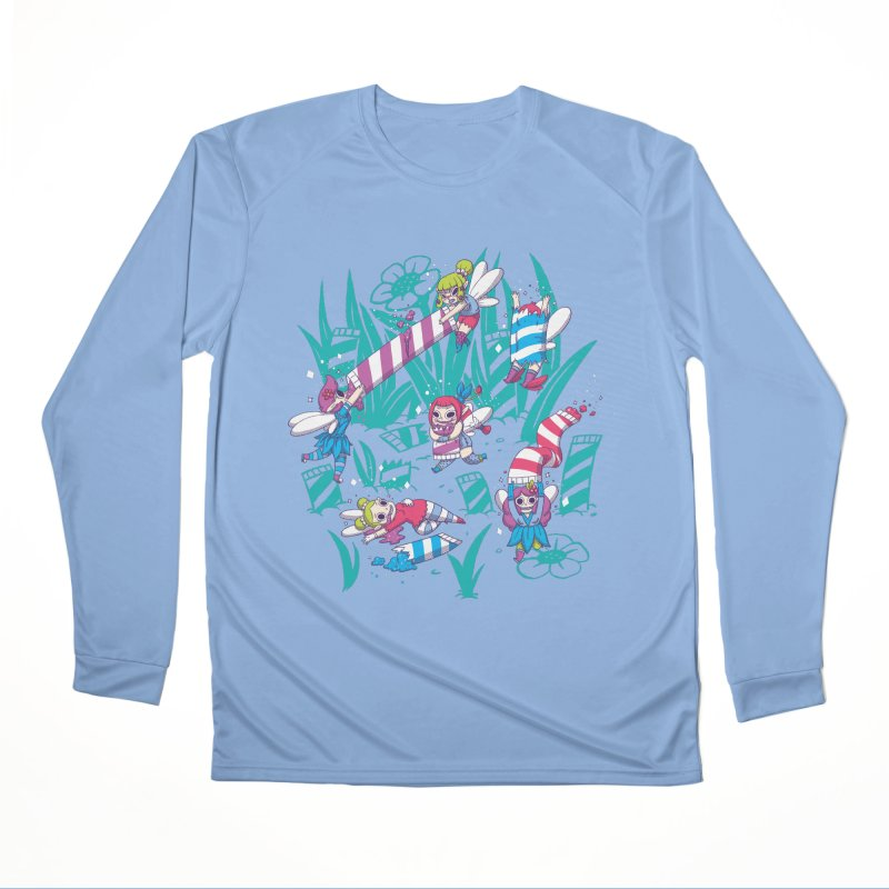 Pixies Eating Pixie Sticks Women's Performance Unisex Longsleeve T-Shirt by Made With Awesome