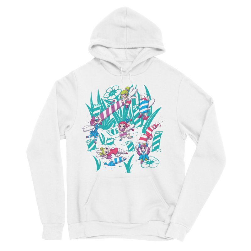 Pixies Eating Pixie Sticks Men's Sponge Fleece Pullover Hoody by Made With Awesome