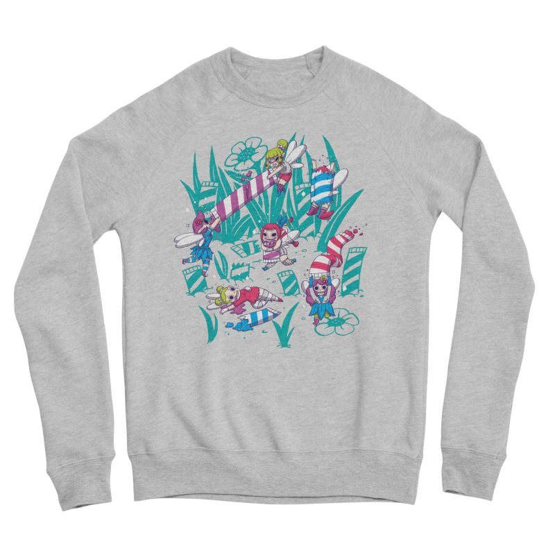Pixies Eating Pixie Sticks Men's Sponge Fleece Sweatshirt by Made With Awesome